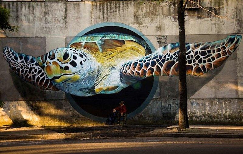 Pic o' the Week: Sea turtle streetart