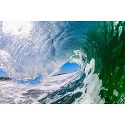 green and blue curl_Clark Little
