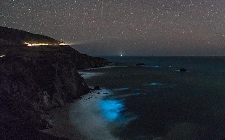 Pic o' the Week: Glowing Waves Below the Milky Way, Big Sur,California